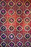 Broccato di Zhuang, tessuto cinese con i modelli di fiore Fotografie Stock