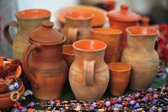 Brocche dell'argilla Fotografia Stock