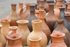 Brocche dell'argilla Fotografie Stock