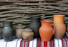 Brocche di ceramica fotografia stock