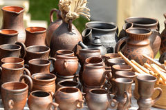 Brocche di ceramica Fotografie Stock Libere da Diritti