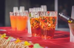 Brocche di perforazione dell'alcool Fotografia Stock
