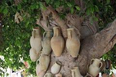 Brocche fatte a mano dell'argilla Immagini Stock