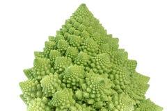 Broccoflower -在白色的绿色花椰菜孤立 库存照片