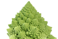 Broccoflower - isolat vert de chou-fleur sur le blanc Photos stock