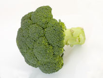 Broccoli. On a white background Royalty Free Stock Photo