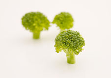 Broccoli. On a white background Royalty Free Stock Image