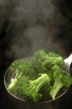 Broccoli. Freshly steamed broccoli in skimmer Stock Images