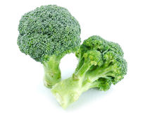 Broccoli. Wet Broccoli on white background stock photography