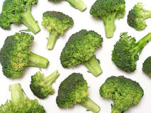 Broccoli. On white Royalty Free Stock Images