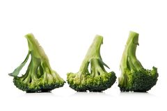 Broccoli. Fresh broccoli isolated over white background Royalty Free Stock Photography