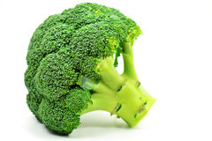 Broccoli. Isolated against a white background Royalty Free Stock Image
