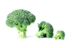 Broccoli. A small and big pieces of broccoli royalty free stock photos
