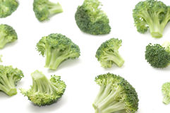 Broccoli. Isolated on a white background Stock Photo