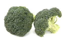 Broccoli. Seen from the front and side Royalty Free Stock Images