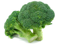 Broccoli. Isolated on a white background Stock Images