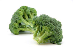 Broccoli. In isolated white background Royalty Free Stock Images