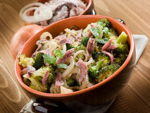 Broccoli anchovy and onion Stock Photo