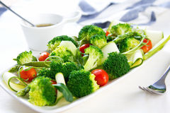 Broccoli with Asparagus and Zucchini salad Royalty Free Stock Photo