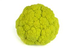 Broccoli au-dessus de blanc Photographie stock