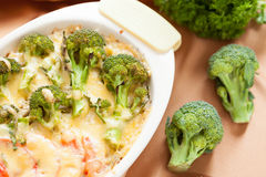 Broccoli baked with Parmesan Royalty Free Stock Photos