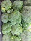 Broccoli bakgrund, bakgrund av broccoli heads, Ubonratchathani Arkivfoto