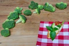 Broccoli.Basil Royalty Free Stock Photos