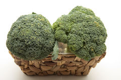 Broccoli in the basket Royalty Free Stock Photos