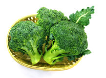 Broccoli in a basket Royalty Free Stock Image