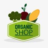 Broccoli beet organic shop meal natural vegan product stamp Stock Photo