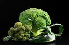 Broccoli on black Stock Images