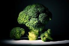 Broccoli on black background Stock Photo