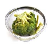Broccoli bolliti Fotografie Stock