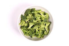 Broccoli in a bowl Royalty Free Stock Image