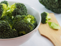 Broccoli in bowl for healthy food Stock Images