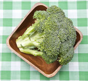 Broccoli in a Bowl on a Picnic Blanket Royalty Free Stock Photography