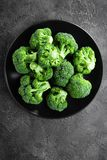 broccoli Brocoli frais de plat image libre de droits