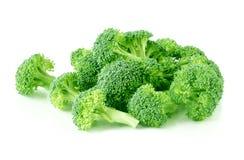 Broccoli Bulk. Green broccoli isolated on white background Royalty Free Stock Photo