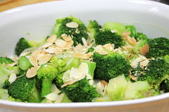 Broccoli with butter Stock Photography