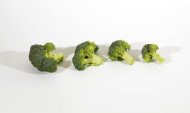 Broccoli Cabbage. Tasty and healthy Broccoli Cabbage on White Royalty Free Stock Photography