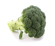 Broccoli cabbage on white background isolate stock photography