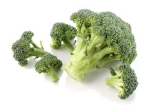 Broccoli cabbage on white background isolate royalty free stock photos