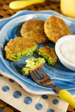 Broccoli cakes Stock Images