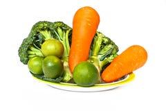 Broccoli carot and lemon Stock Photography