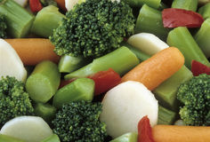 Broccoli Carrot Vegetable Mix Stock Images