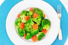 Broccoli and Carrots. Diet Fitness Nutrition Stock Images