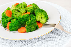 Broccoli and Carrots. Diet Fitness Nutrition Stock Photos