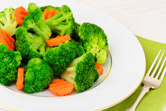 Broccoli and Carrots. Diet Fitness Nutrition Stock Image