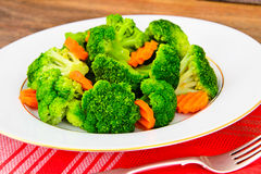 Broccoli and Carrots. Diet Fitness Nutrition Royalty Free Stock Photos