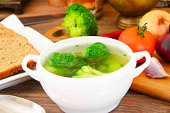 Broccoli and Carrots Soup. Diet Fitness Nutrition Stock Photography